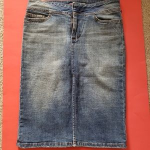 Joe's Jeans Knee Length Denim Pencil Skirt 26 EUC!